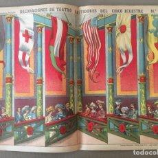 Coleccionismo Recortables: DECORACIONES DE TEATRO BASTIDORES DEL CIRCO ECUESTRE N 518 PALUZIE RARO (BANDERAS, ROPA EPOCA ) .... Lote 194359698