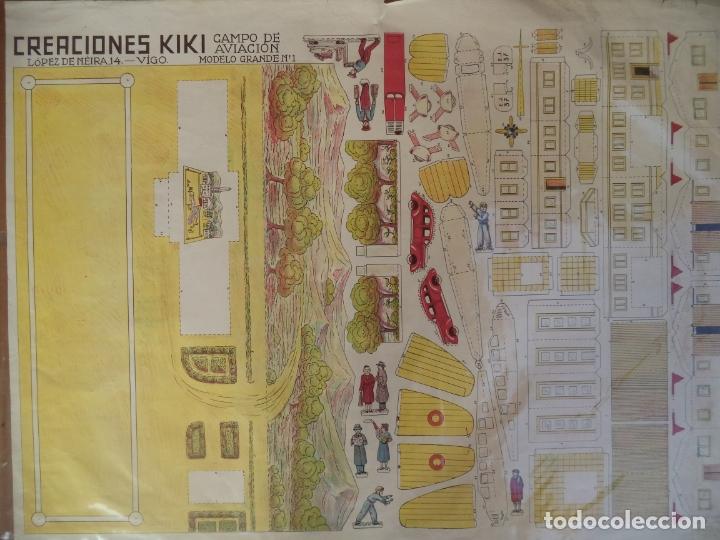 Coleccionismo Recortables: recortable CREACIONES KIKI CAMPO DE AVIACION MODELO GRANDE Nº1 64X48 CM - Foto 2 - 172752094