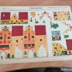 Coleccionismo Recortables: CASA PORTICO CHOCOLATE EVARISTO JUNCOSA HIJO. HOJA 32,5 X 24 CM . MUY RARO (AB-1). Lote 173914869