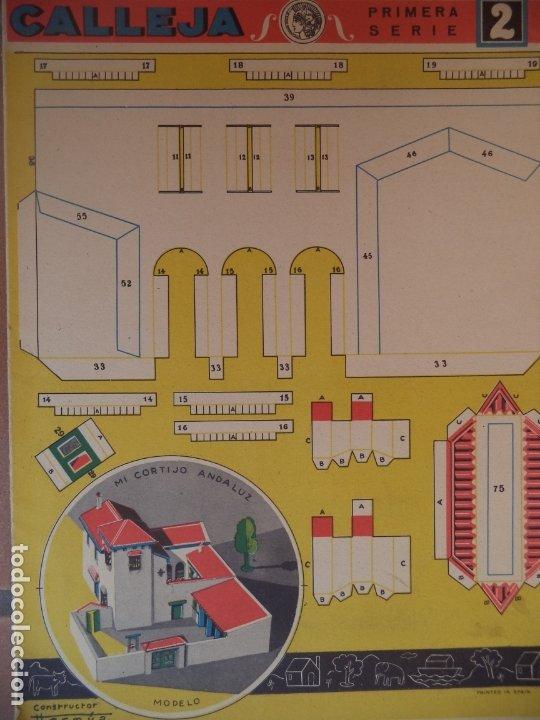 CONSTRUCCIONES CALLEJA MI CORTIJO ANDALUZ DIMENSIONES 52X148 SEGUNDA SERIE 2 (Coleccionismo - Recortables - Construcciones)