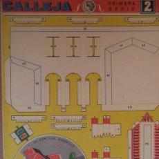 Coleccionismo Recortables: CONSTRUCCIONES CALLEJA MI CORTIJO ANDALUZ DIMENSIONES 52X148 SEGUNDA SERIE 2. Lote 174570784