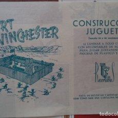 Coleccionismo Recortables: RECORTABLE ROLLAN FORT WINCHESTER DOCE LAMINAS DE 35X25 CM. Lote 175060909