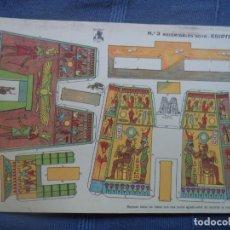Coleccionismo Recortables: RECORTABLES GOYA Nº 3 EGIPTO 33X23 CM. Lote 176644749