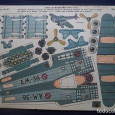 Coleccionismo Recortables: RECORTABLES BABY AVION DE BOMBARDEO(ULTIMO MODELO) SERIE B Nº 25 33X23 CM. Lote 176975883