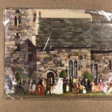 Coleccionismo Recortables: 12TH C SAXON CHURCH WITH VICTORIAN WEDDING YORKSIRE. RECORTABLE DE 1988, J.M. APPERT. Lote 177208318
