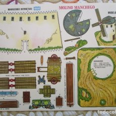 Coleccionismo Recortables: RECORTABLE - MANUALIDADES INSTRUCTIVAS - ORBE - MOLINO MANCHEGO - 34X25 CM.. Lote 182221228
