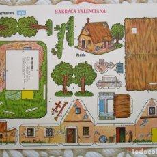 Coleccionismo Recortables: RECORTABLE - MANUALIDADES INSTRUCTIVAS - ORBE - BARRACA VALENCIANA - 34X25 CM.. Lote 182221402