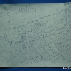 Coleccionismo Recortables: ANTIGUO PLANO DESPIECE DE LA MAQUETA DEL BARCO SAN FELIPE 1690. Lote 182424048