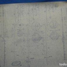 Coleccionismo Recortables: ANTIGUO PLANO DESPIECE DE LA MAQUETA DEL BARCO SAN FELIPE 1690. Lote 182536605