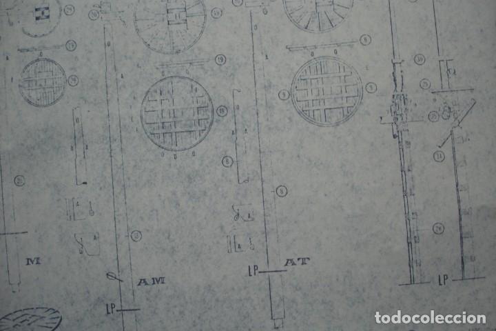 Coleccionismo Recortables: ANTIGUO PLANO DESPIECE DE LA MAQUETA DEL BARCO SAN FELIPE 1690 - Foto 2 - 182536605