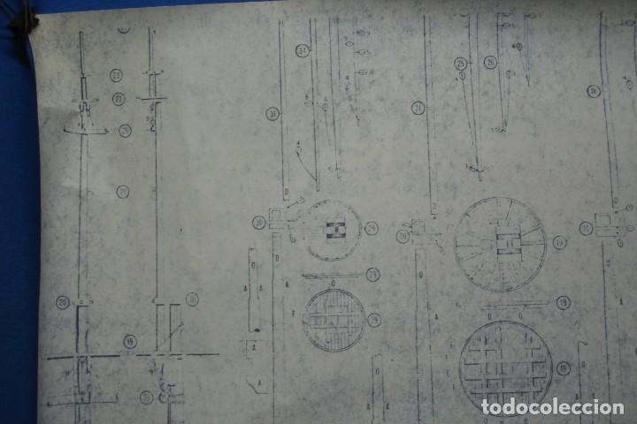 Coleccionismo Recortables: ANTIGUO PLANO DESPIECE DE LA MAQUETA DEL BARCO SAN FELIPE 1690 - Foto 3 - 182536605
