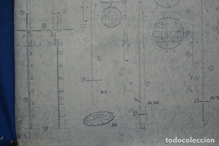 Coleccionismo Recortables: ANTIGUO PLANO DESPIECE DE LA MAQUETA DEL BARCO SAN FELIPE 1690 - Foto 4 - 182536605