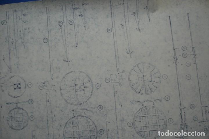Coleccionismo Recortables: ANTIGUO PLANO DESPIECE DE LA MAQUETA DEL BARCO SAN FELIPE 1690 - Foto 5 - 182536605