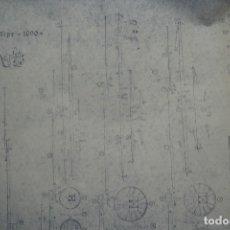 Coleccionismo Recortables: ANTIGUO PLANO DESPIECE DE LA MAQUETA DEL BARCO SAN FELIPE 1690. Lote 182537665