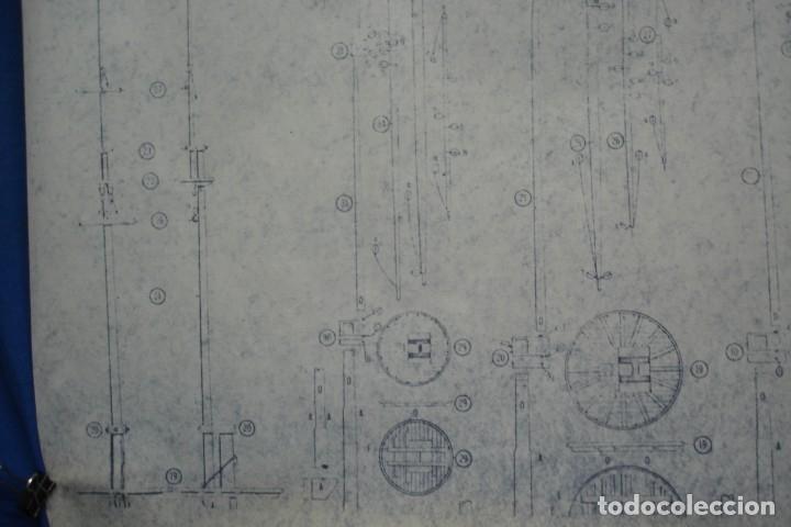 Coleccionismo Recortables: ANTIGUO PLANO DESPIECE DE LA MAQUETA DEL BARCO SAN FELIPE 1690 - Foto 3 - 182537665