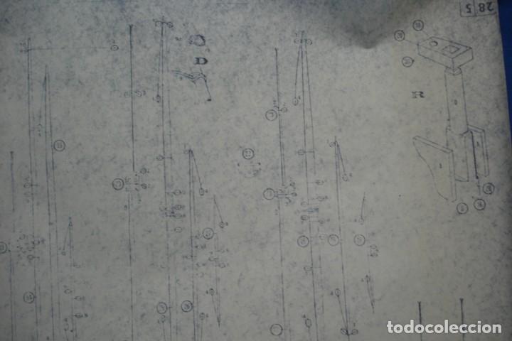 Coleccionismo Recortables: ANTIGUO PLANO DESPIECE DE LA MAQUETA DEL BARCO SAN FELIPE 1690 - Foto 4 - 182537665