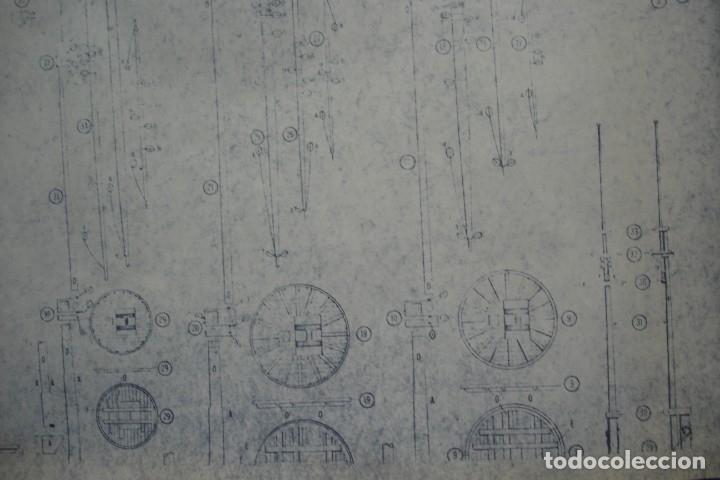 Coleccionismo Recortables: ANTIGUO PLANO DESPIECE DE LA MAQUETA DEL BARCO SAN FELIPE 1690 - Foto 5 - 182537665
