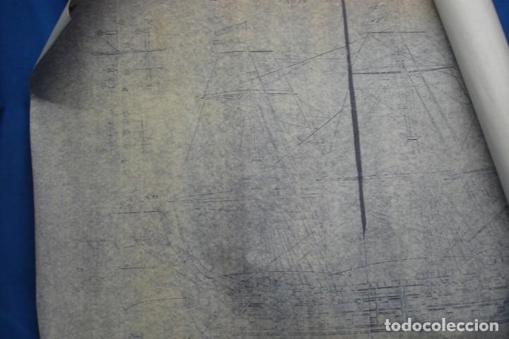 ANTIGUO PLANO DESPIECE DE LA MAQUETA DEL BARCO SAN FELIPE 1690 (Coleccionismo - Recortables - Construcciones)