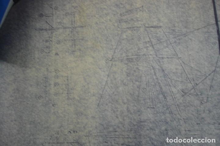 Coleccionismo Recortables: ANTIGUO PLANO DESPIECE DE LA MAQUETA DEL BARCO SAN FELIPE 1690 - Foto 2 - 182539167