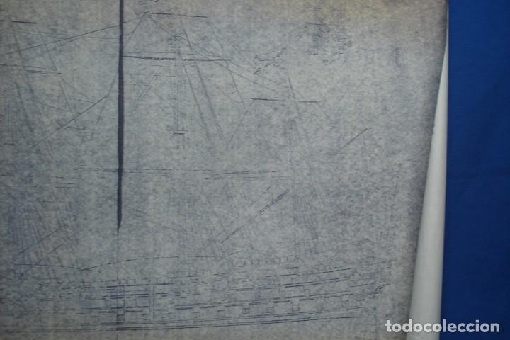 Coleccionismo Recortables: ANTIGUO PLANO DESPIECE DE LA MAQUETA DEL BARCO SAN FELIPE 1690 - Foto 4 - 182539167