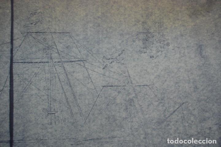 Coleccionismo Recortables: ANTIGUO PLANO DESPIECE DE LA MAQUETA DEL BARCO SAN FELIPE 1690 - Foto 5 - 182539167