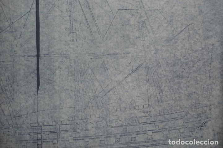 Coleccionismo Recortables: ANTIGUO PLANO DESPIECE DE LA MAQUETA DEL BARCO SAN FELIPE 1690 - Foto 6 - 182539167