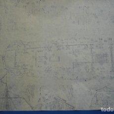 Coleccionismo Recortables: ANTIGUO PLANO DESPIECE DE LA MAQUETA DEL BARCO SAN FELIPE 1690. Lote 182591278