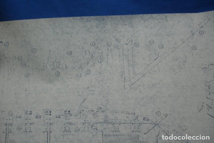Coleccionismo Recortables: ANTIGUO PLANO DESPIECE DE LA MAQUETA DEL BARCO SAN FELIPE 1690 - Foto 8 - 182591278