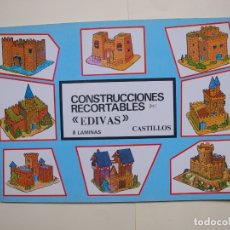 Coleccionismo Recortables: CONSTRUCCIONES RECORTABLES EDIVAS - CASTILLOS Y FORTALEZAS - 8 LÁMINAS - BE. Lote 182826326