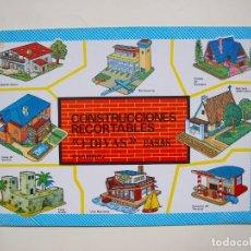 Coleccionismo Recortables: CONSTRUCCIONES RECORTABLES EDIVAS - CASAS - 8 LÁMINAS - BE. Lote 182826682