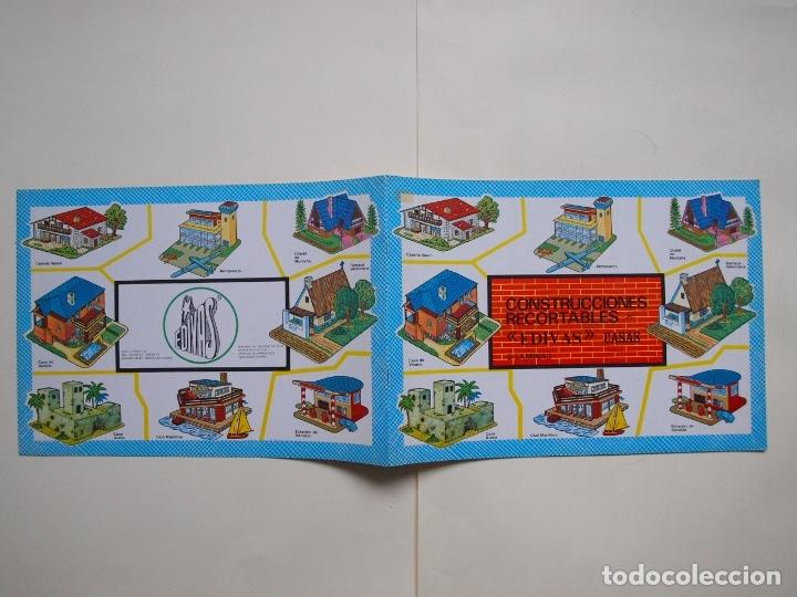 Coleccionismo Recortables: CONSTRUCCIONES RECORTABLES EDIVAS - CASAS - 8 LÁMINAS - BE - Foto 6 - 182826682