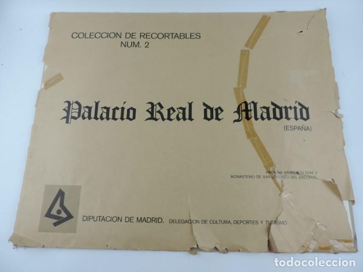 Coleccionismo Recortables: RECORTABLE DEL PALACIO REAL DE MADRID, ED. FASCIMIL DEL MODELO EDITADO POR EDITORIAL HERNANDO EN LOS - Foto 2 - 182838905