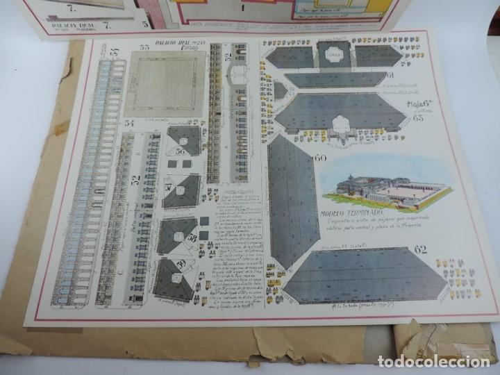 Coleccionismo Recortables: RECORTABLE DEL PALACIO REAL DE MADRID, ED. FASCIMIL DEL MODELO EDITADO POR EDITORIAL HERNANDO EN LOS - Foto 6 - 182838905