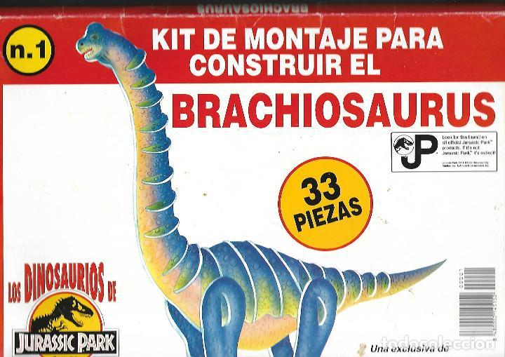 RECORTABLE KIT DE MONTAJE PAR CONSTRUIR EL BRACHIOSAURIO ESTUCHE CONTRES CARTONES DUROS A TODO COLOR (Coleccionismo - Recortables - Construcciones)