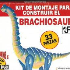 Coleccionismo Recortables: RECORTABLE KIT DE MONTAJE PAR CONSTRUIR EL BRACHIOSAURIO ESTUCHE CONTRES CARTONES DUROS A TODO COLOR. Lote 184557798