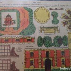 Coleccionismo Recortables: RECORTABLE LA TIJERA SERIE 10 Nº 202 CASA TURCA. Lote 184618832