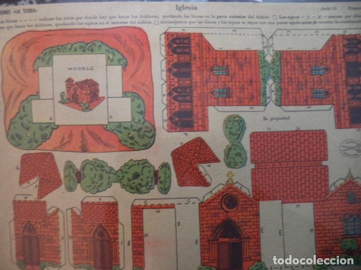 RECORTABLE LA TIJERA SERIE 10 Nº 203 IGLESIA (Coleccionismo - Recortables - Construcciones)