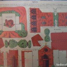 Coleccionismo Recortables: RECORTABLE LA TIJERA SERIE 10 Nº 203 IGLESIA. Lote 184618868