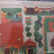 Coleccionismo Recortables: RECORTABLES LA TIJERA SERIE 10Nº 204 CASA CON CORRAL. Lote 184618971