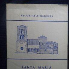 Coleccionismo Recortables: RECORTABLE MAQUETA SANTA MARIA DE BAREYO(CANTABRIA) 4 LAMINAS 32X23 CM+INTRUCCIONES DE MONTAJE. Lote 186005328