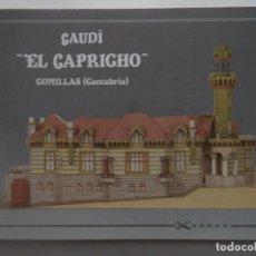 Coleccionismo Recortables: GAUDI EL CAPRICHO COMILLAS (CANTABRIA)CUADERNILLO DE 13 LAMINAS 32X21,5 CM+INSTRUCCIONES. Lote 186008233