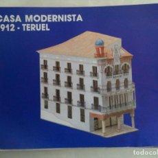 Coleccionismo Recortables: RECORTABLE MAQUETA CASA MODERNISTA 1912 TERUEL. Lote 186140047