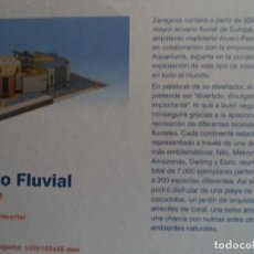 Coleccionismo Recortables: RECORTABLE MAQUETA EXPOZARAGOZA ACUARIO FLUVIAL ESCALA 1/600. Lote 186142252