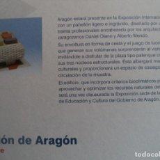 Coleccionismo Recortables: RECORTABLE MAQUETA PABELLON DE ARAGON ESCALA 1/600 3 LAMINAS 25X21,5 CM. Lote 186144121