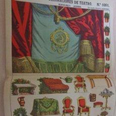 Coleccionismo Recortables: RECORTABLES PALUZIE Nº 1061. DECORACIONES DE TEATRO. TELÓN DE BOCA Y ACCESORIOS. Lote 189360923