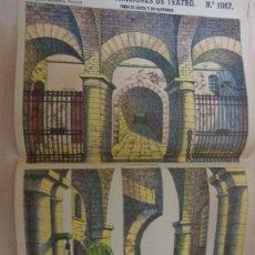 Coleccionismo Recortables: RECORTABLES PALUZIE Nº 1067. DECORACIONES DE TEATRO. FONDO DE CÁRCEL Y SUS BASTIDORES. Lote 189587223