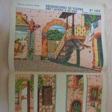 Coleccionismo Recortables: RECORTABLES PALUZIE Nº 1078. DECORACIONES DE TEATRO. FONDO Y BASTIDORES DE UNA POSADA. Lote 189587758