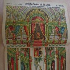 Coleccionismo Recortables: RECORTABLES PALUZIE Nº 1072. DECORACIONES DE TEATRO. FONDO DE PALACIO Y SUS BASTIDORES. Lote 189587850