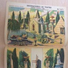 Colecionismo Recortáveis: RECORTABLES PALUZIE Nº 1071. DECORACIONES DE TEATRO. CEMENTERIO (BASTIDORES Y FONDO). Lote 189587933