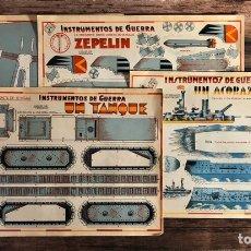 Coleccionismo Recortables: INSTRUMENTOS DE GUERRA, CONSTRUCCIÓNES COSTALES,¡COMPLETA!.. Lote 191268873